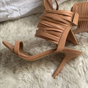 Jeffrey Campbell Nude Strappy Sandals 7.5